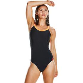 speedo W's Fit PowerForm Pro Swimsuit Black/Fluo Orange